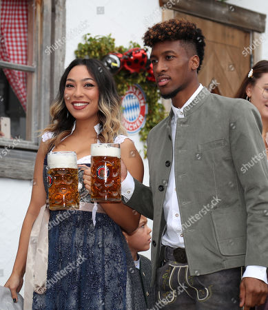Stock Image of Kingsley Coman and Sephora Coman
