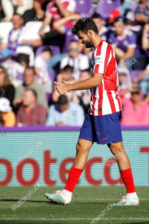 Stock Photo of Atletico Madrid's Diego Costa reacts during the Spanish LaLiga soccer match between Real Valladolid and Atletico Madrid at the Jose Zorrilla stadium in Valladolid, Spain, 06 October 2019.