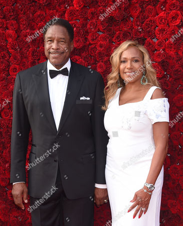 Stock Image of Dave Winfield and wife Tonya Turner
