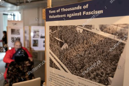 An image on exhibit in the Forgotten Liberators exhibition at the Desmond & Leah Tutu Legacy Foundation in Cape Town, South Africa 06 October 2019. The exhibition, sub-titled, Third World in World War II, presents a decolonised history of the Second World War, acknowledging the six million Jews who died in the holocaust as well as the 20 million others including gay and lesbian people, gypsies, communists and third world conscripts  who lost their lives opposing the racism of Nazi Germany. The exhibition is the product of more than 20 years of research conducted by a group of scientists and journalists based in Cologne, Germany.  Approximately one million people from Great Britain?s colonies and another million people from French Colonies were conscripted as soldiers. They fought in the winters of Europe without adequate clothing or equipment, the colonies having to provide 90% of the materials for the war, including food. Not only did many die in battle, but they died of starvation while their families at home lost essential harvests.