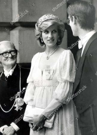 Sir Hugh Casson and Princess Diana