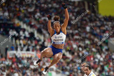 Stock Picture of Shara Proctor (Great Britain), Long Jump Women - Final, during the 2019 IAAF World Athletics Championships at Khalifa International Stadium, Doha