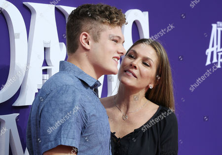 Stock Image of Paige Turco and son David