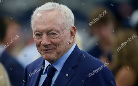 Dallas Cowboys owner and general manager Jerry Jones looks on before Dallas Cowboys play the Green Bay Packers in an NFL football game in Arlington, Texas