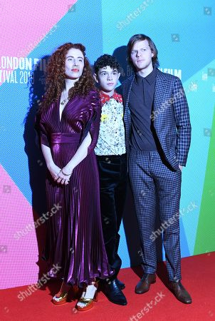 """From Director Alma Har'el, and actors/cast members Noah Jupe, Lucas Hedges arrive to the UK premiere of """"Honey Boy"""" in Leicester square in London, Britain, 06 October 2019. The 2019 BFI Film Festival runs from 02 to 13 October."""