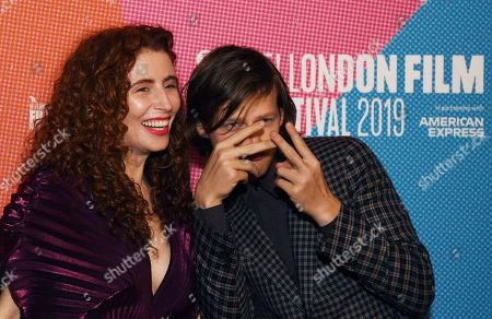 """Alma Har'el (L) and US actor/cast member Lucas Hedges (R) arrive to the UK premiere of """"Honey Boy"""" in Leicester square in London, Britain, 06 October 2019. The 2019 BFI Film Festival runs from 02 to 13 October."""