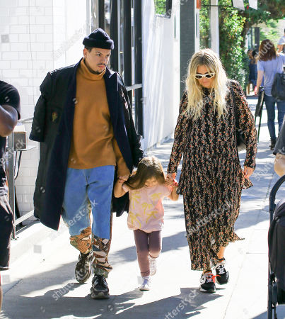 Stock Image of Evan Ross and Ashlee Simpson with Jagger Snow Ross
