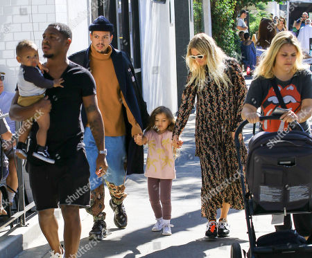 Editorial image of Evan Ross and Ashlee Simpson out and about, Los Angeles, USA - 06 Oct 2019