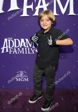 """Jeremy Maguire attends the Los Angeles premiere of """"The Addams Family"""" at Westfield Century City Mall on"""