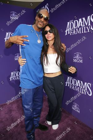 "Stock Image of Snoop Dogg, Antonina Armato. Snoop Dogg, left, and Antonina Armato attend the Los Angeles premiere of ""The Addams Family"" at Westfield Century City Mall on"