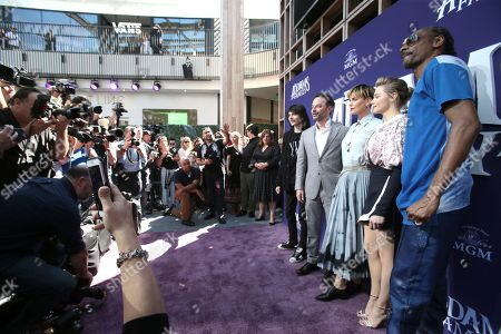 "Finn Wolfhard, Nick Kroll, Charlize Theron, Chloe Grace Moretz, Snoop Dogg. Finn Wolfhard, from left, Nick Kroll, Charlize Theron, Chloe Grace Moretz and Snoop Dogg attend the Los Angeles premiere of ""The Addams Family"" at Westfield Century City Mall on"