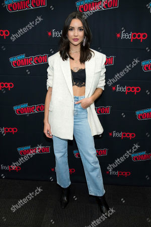"""Maddison Jaizani attends New York Comic Con to promote The CW's """"Nancy Drew"""" at the Jacob K. Javits Convention Center, in New York"""