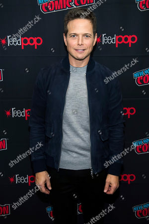 """Stock Photo of Scott Wolf attends New York Comic Con to promote The CW's """"Nancy Drew"""" at the Jacob K. Javits Convention Center, in New York"""