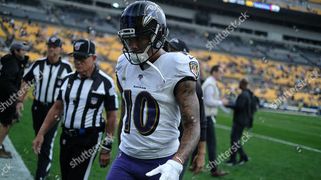 th, Chris Moore #10 during the Pittsburgh Steelers vs Baltimore Ravens at Heinz Field in Pittsburgh, PA