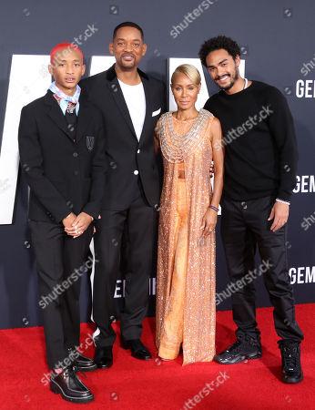 Stock Image of Jaden Smith, Will Smith, Jada Pinkett Smith and Trey Smith