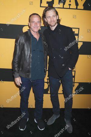 Clark Gregg and Tom Hiddleston