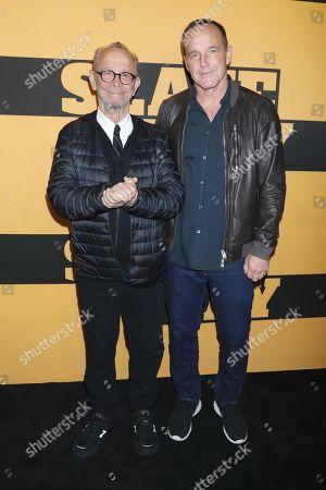 Joel Grey and Clark Gregg