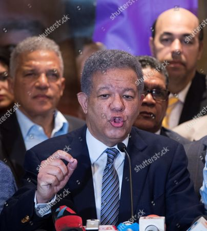 Former Dominican President Leonel Fernandez and presidential pre-candidate of the official Dominican Liberation Party (PLD), speaks during a press conference in Santo Domingo, Dominican Republic, 06 October 2019. The former president claimed the results of the open primary held this Sunday in the country were altered. Fernandez, three times president of the Republic, warned that 'under no circumstances' will he allow the will of the people to be violated, something he claims is due to a technical alteration originating in the voting machines of the Central Electoral Board (JCE).