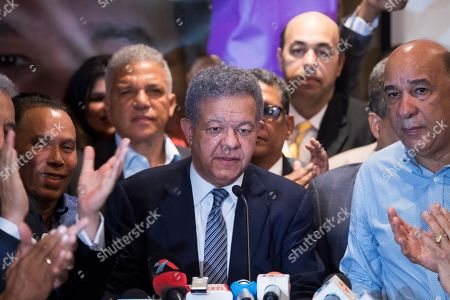 Former Dominican President Leonel Fernandez and presidential pre-candidate of the official Dominican Liberation Party (PLD), speaks during a press conference in Santo Domingo, Dominican Republic, 06 October 2019.The former president claimed the results of the open primary held this Sunday in the country were altered. Fernandez, three times president of the Republic, warned that 'under no circumstances' will he allow the will of the people to be violated, something he claims is due to a technical alteration originating in the voting machines of the Central Electoral Board (JCE).