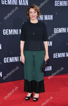 "Linda Emond attends the premiere of ""Gemini Man"" at the TCL Chinese Theater, in Los Angeles"