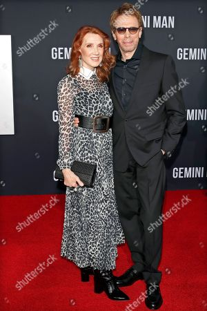 Jerry Bruckheimer (R) and his wife Linda Bruckheimer (L) pose on the red carpet as they arrive at the premiere of Gemini Man at the TCL Chinese Theatre IMAX in Los Angeles, USA, 06 October 2019. The movie opens in US theaters on 11 October 2019.