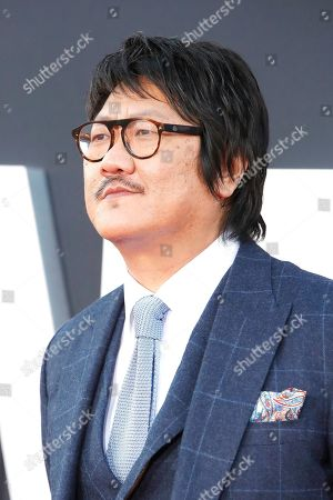 Benedict Wong looks on as he arrives at the premiere of Gemini Man at the TCL Chinese Theatre IMAX in Los Angeles, USA, 06 October 2019. The movie opens in US theaters on 11 October 2019.