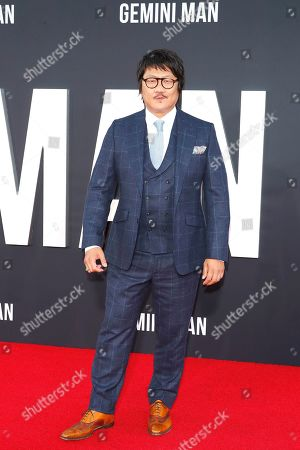 Benedict Wong poses on the red carpet as he arrives at the premiere of Gemini Man at the TCL Chinese Theatre IMAX in Los Angeles, USA, 06 October 2019. The movie opens in US theaters on 11 October 2019.