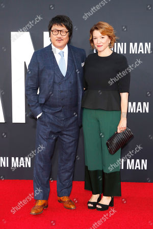 Benedict Wong (L) and US actress Linda Emond (R) pose on the red carpet as they arrive at the premiere of Gemini Man at the TCL Chinese Theatre IMAX in Los Angeles, USA, 06 October 2019. The movie opens in US theaters on 11 October 2019.