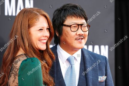 Benedict Wong (R) and his wife arrive at the premiere of Gemini Man at the TCL Chinese Theatre IMAX in Los Angeles, USA, 06 October 2019. The movie opens in US theaters on 11 October 2019.
