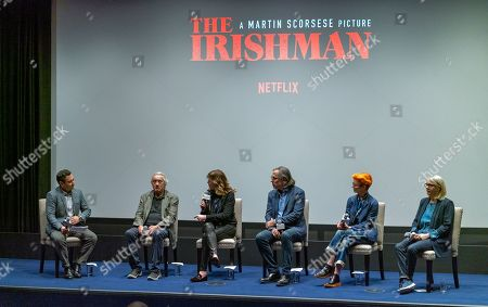 Moderator, Robert De Niro, Jane Rosenthal, Rodrigo Prieto, Sandy Powell and Ellen Lewis