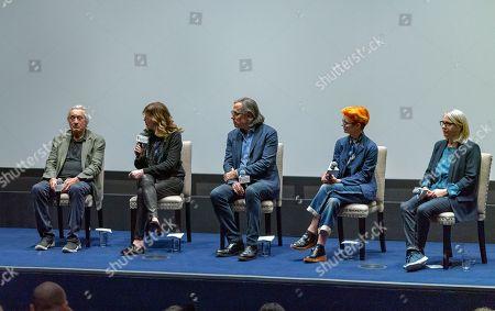 Robert De Niro, Jane Rosenthal, Rodrigo Prieto, Sandy Powell and Ellen Lewis
