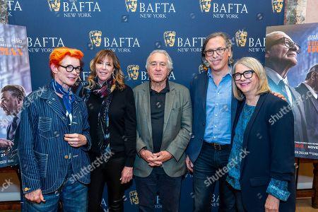 Stock Photo of Sandy Powell, Jane Rosenthal, Robert De Niro, Rodrigo Prieto and Ellen Lewis