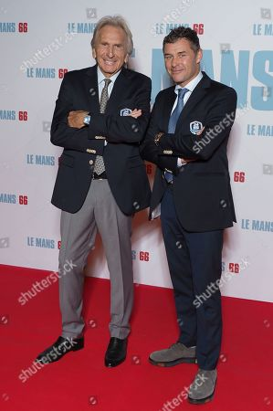 (L-R) Pilots Dereck Bell (5 times winner of the '24 hours of Le Mans') and Tom Kristensen (9 times winners of the '24 hours of Le Mans')