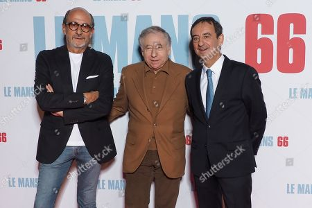 (L-R) Richard Mille, Jean Todt and Pierre Fillon