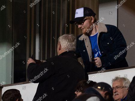 Singer Ed Sheeran at Portman Road
