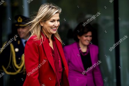 Dutch Queen Maxima leaves the fifth Global SME Finance Forum, in Schiphol, the Netherlands, 07 October 2019. The forum focuses on global development of small and medium-sized enterprises (SMEs).