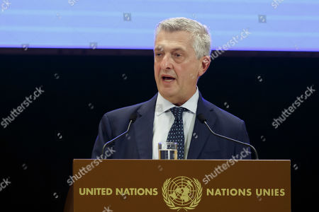 Filippo Grandi, UN High Commissioner for Refugees, addresses his statement, during the 70th annual meeting of the UNHCR Executive Committee, at the European headquarters of the United Nations in Geneva, Switzerland, 07 October 2019.