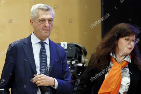 Filippo Grandi, UN High Commissioner for Refugees, arrives on the podium for his statement, during the 70th annual meeting of the UNHCR Executive Committee, at the European headquarters of the United Nations in Geneva, Switzerland, 07 October 2019.