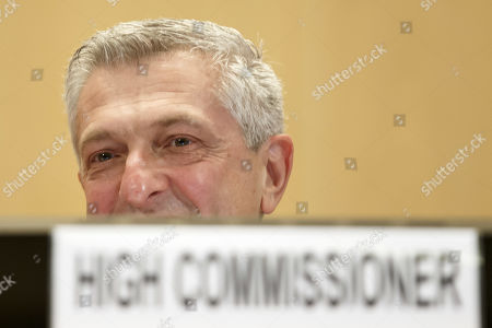 Filippo Grandi, UN High Commissioner for Refugees, waits, prior opening the 70th annual meeting of the UNHCR Executive Committee, at the European headquarters of the United Nations in Geneva, Switzerland, 07 October 2019.