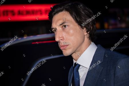Stock Photo of Adam Driver poses for photographers upon arrival at the premiere of the film 'Marriage Story' which is screened as part of the London Film Festival, in central London