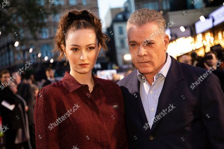 Karsen Liotta, Ray Liotta. Karsen Liotta and Ray Liotta pose for photographers upon arrival at the premiere of the film 'Marriage Story' which is screened as part of the London Film Festival, in central London