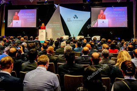 Editorial photo of Global SME Finance Forum, Schiphol, Netherlands - 07 Oct 2019