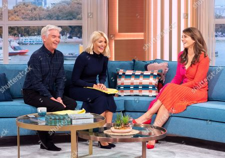 Stock Picture of Phillip Schofield and Holly Willoughby with Elizabeth Hurley