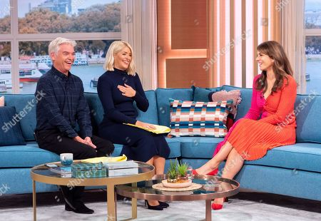 Stock Image of Phillip Schofield and Holly Willoughby with Elizabeth Hurley