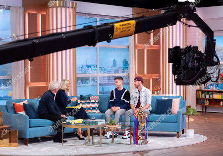 Stock Picture of Phillip Schofield, Holly Willoughby with Twist and Pulse - Ashley Glazebrook and Glen Murphy