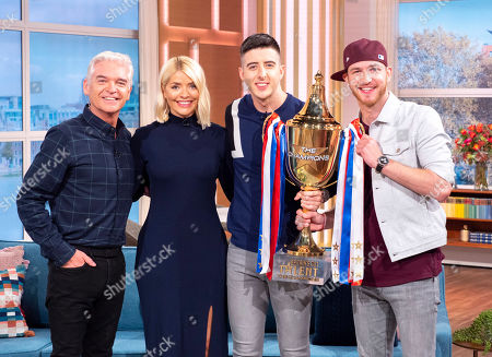 Stock Image of Phillip Schofield, Holly Willoughby with Twist and Pulse - Ashley Glazebrook and Glen Murphy