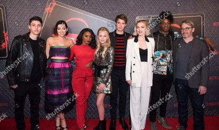 Stock Picture of Gregory Kasyan, Krysta Rodriguez, Jeante Godlock, Alyvia Alyn Lind, Colin Ford, Sophie Simnett, Austin Crute, Matthew Broderick