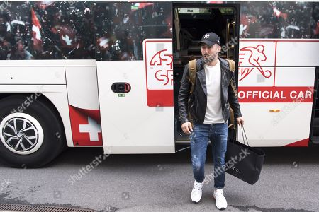 Stock Picture of Switzerland's national soccer team player Josip Drmic arrives at the hotel for a preparation camp of the upcoming UEFA Euro 2020 qualifying soccer matches, in Lausanne, Switzerland, 07 October 2019. Denemark will play Switzerland for the UEFA Euro 2020 qualifying Group D soccer match on October 12 in Copenhagen.