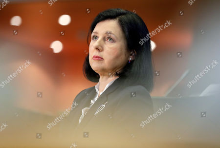 Vera Jourova, European Commissioner-designate for Values and Transparency, attends her hearing before the European Parliament in Brussels, Belgium, 07 October 2019. MEPs from various committees are hearing the proposed members of Commission President-elect von der Leyen's. Commissioners have to be approved by the parliament following parliamentary vetting process.