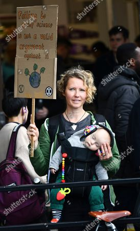 Protestors gather in Trafalgar Square as part of a day of Extinction Rebellion protests